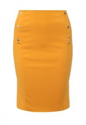 Юбка Patrizia Pepe. Цвет: оранжевый