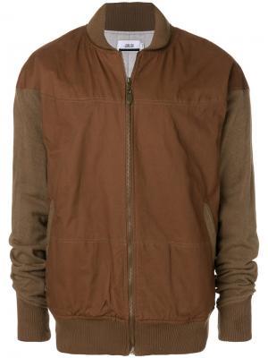 Двухцветная куртка-бомбер Publish. Цвет: коричневый