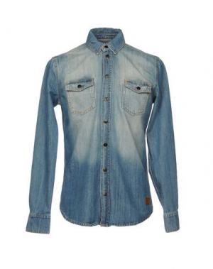 Джинсовая рубашка MINIMUM. Цвет: синий