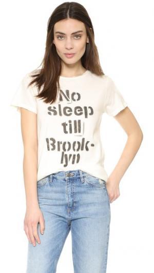 Футболка No Sleep Till Brooklyn Prince Peter. Цвет: молочный