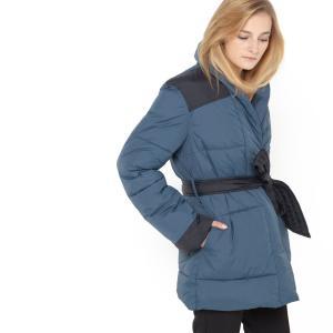 Куртка стеганая длинная La Redoute Collections. Цвет: темно-синий