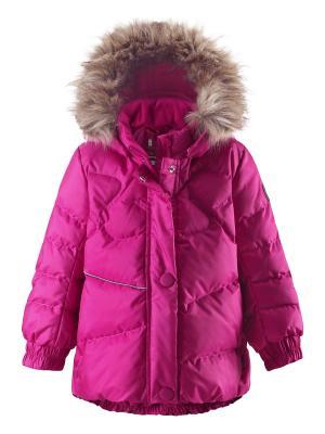 Куртка Reima. Цвет: розовый