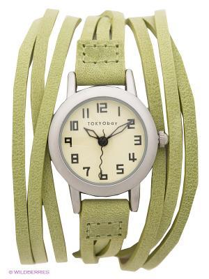 Часы TOKYObay. Цвет: салатовый, серебристый