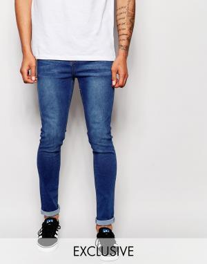 Liquor & Poker Эластичные джинсы скинни цвета индиго. Цвет: синий