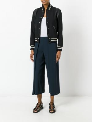 Широкие укороченные брюки Rag & Bone. Цвет: синий