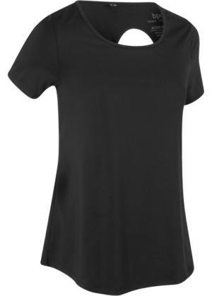 Спортивная футболка (черный) bonprix. Цвет: черный