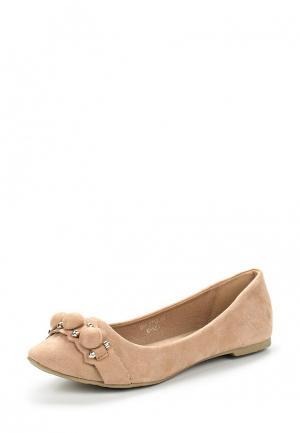 Балетки Ideal Shoes. Цвет: бежевый