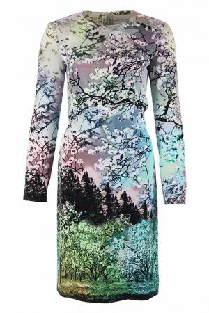 Платье Mary Katrantzou. Цвет: зеленый