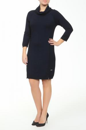 Платье Paola Joy. Цвет: темно-синий