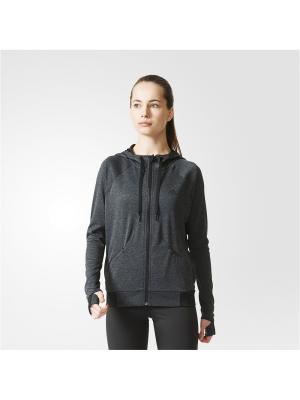 Толстовка PERF FZ HOODY A BLKHEA Adidas. Цвет: черный