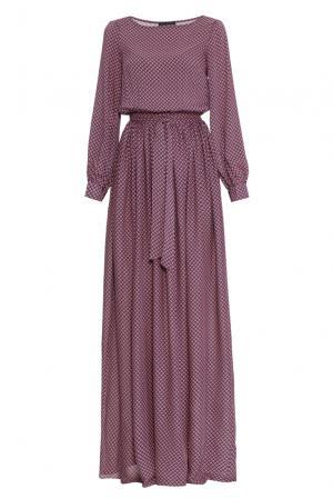 Платье из вискозы с поясом 168348 Demurya Collection. Цвет: разноцветный