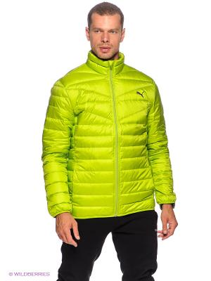 Куртка STL PackLight Down Jacket Puma. Цвет: салатовый