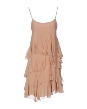 Короткое платье ANIYE BY. Цвет: телесный