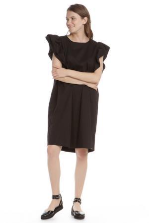 Прямое платье с рукавами Бабочка HANNY DEEP. Цвет: черный