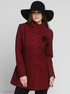 Пальто Fever. Цвет: бордовый