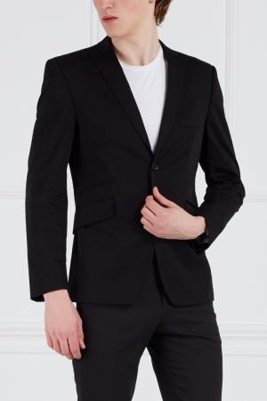 Хлопковый пиджак Bruuns Bazaar. Цвет: черный