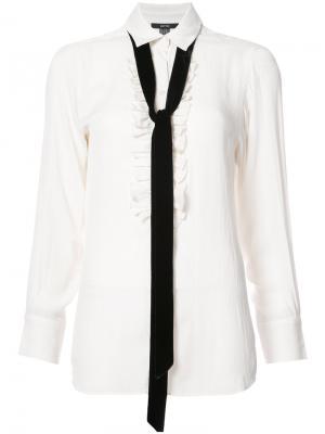 Рубашка с галстуком Smythe. Цвет: белый