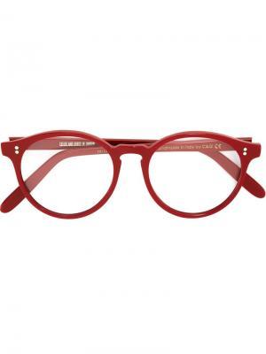 Оптические очки в круглой оправе Cutler & Gross. Цвет: красный