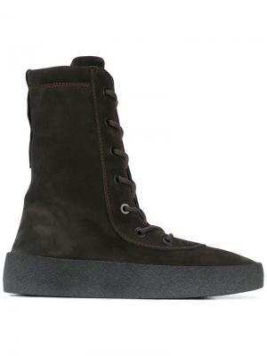 Ботинки на шнуровке Season 4 Yeezy. Цвет: коричневый