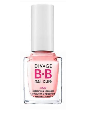 Bb - Корректор и консилер (покрытие) с эффектом гелевых ногтей sos DIVAGE. Цвет: розовый