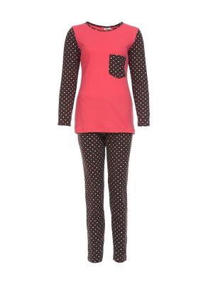 Пижама Веста.. Цвет: коралловый