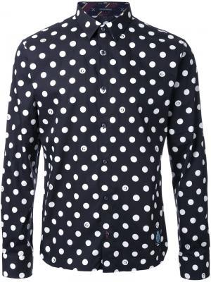 Рубашка с принтом в горох Guild Prime. Цвет: чёрный