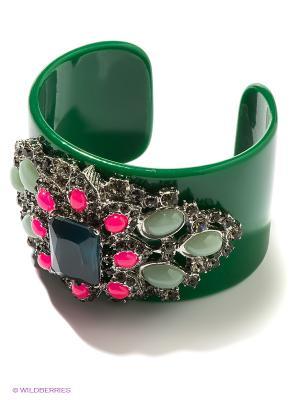 Браслет Milana Style. Цвет: зеленый, серебристый