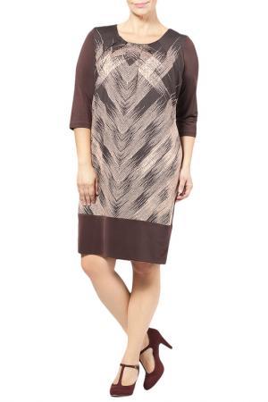 DRESS Zedd Plus. Цвет: dark brown, beige