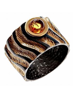 Кольцо Балтийское золото. Цвет: черный, золотистый