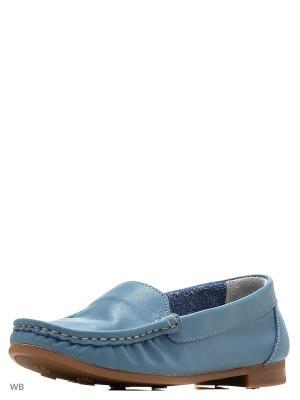 Мокасины Dino Ricci. Цвет: голубой