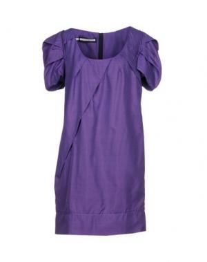 Короткое платье AQUILANO-RIMONDI. Цвет: фиолетовый