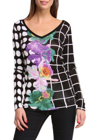 Блуза Desigual. Цвет: black, white