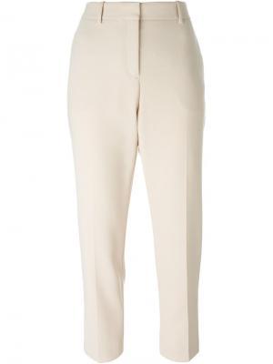 Зауженные брюки Theory. Цвет: телесный