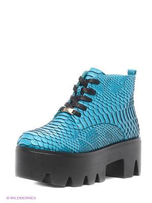 Ботинки LINO MORANO. Цвет: голубой
