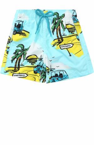 Плавки-шорты с принтом Vilebrequin. Цвет: голубой