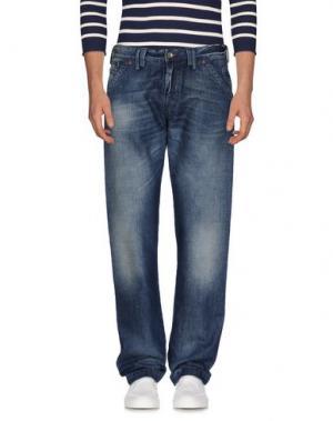 Джинсовые брюки MASON'S JEANS. Цвет: синий
