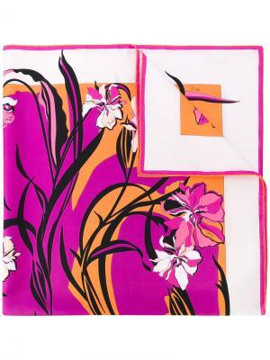 Шарф с принтом Emilio Pucci. Цвет: розовый и фиолетовый