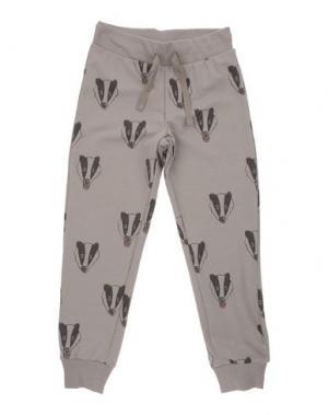 Повседневные брюки MINI RODINI. Цвет: серый