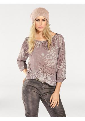 Блузка B.C. BEST CONNECTIONS. Цвет: розовый, серый, синий