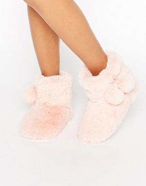 Boux Avenue Слиперы-ботинки. Цвет: розовый