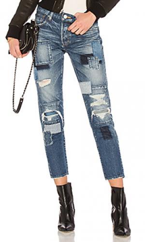 Зауженные джинсы laurel patched Moussy. Цвет: none