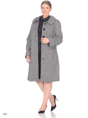 Пальто BERKLINE. Цвет: черный, белый