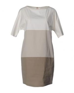 Короткое платье ANTONELLI. Цвет: светло-серый