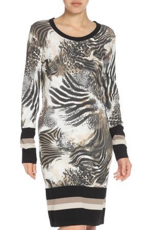 Платье с леопардовым принтом Apanage. Цвет: мультиколор