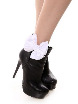 Украшение - клипсы на обувь Шелковые молочно-белые SEANNA. Цвет: молочный
