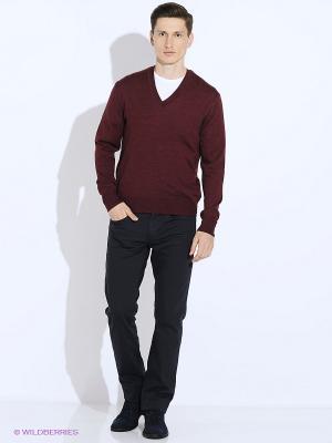 Пуловер JB casual. Цвет: бордовый