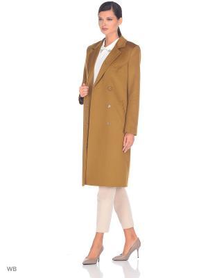 Пальто Exalta. Цвет: светло-коричневый