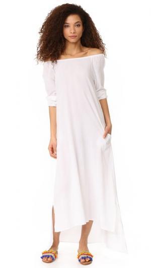 Макси-платье Galilee с открытыми плечами 9seed. Цвет: белый