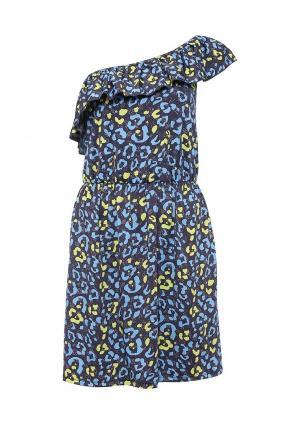 Платье Emdi. Цвет: синий