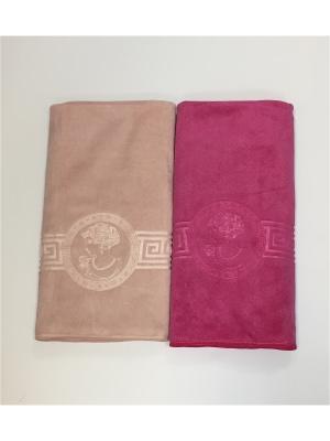 Полотенца кухонные A and C Collection. Цвет: бледно-розовый, розовый